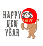 あけおめスタンプ【おサルママ☆お正月編】(個別スタンプ:19)