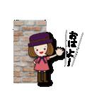 帽子がトレードマークの女の子(個別スタンプ:01)