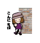 帽子がトレードマークの女の子(個別スタンプ:02)