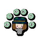 帽子がトレードマークの女の子(個別スタンプ:04)
