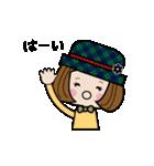 帽子がトレードマークの女の子(個別スタンプ:16)