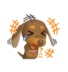 3D ダックスフレンズ(3)メリクリ、年賀入り(個別スタンプ:07)