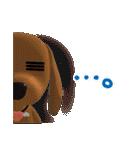 3D ダックスフレンズ(3)メリクリ、年賀入り(個別スタンプ:12)