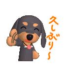 3D ダックスフレンズ(3)メリクリ、年賀入り(個別スタンプ:21)