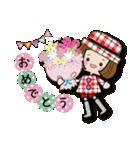 帽子がトレードマークの女の子(冬Ver.)(個別スタンプ:1)
