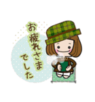 帽子がトレードマークの女の子(冬Ver.)(個別スタンプ:4)