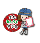 帽子がトレードマークの女の子(冬Ver.)(個別スタンプ:6)