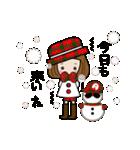帽子がトレードマークの女の子(冬Ver.)(個別スタンプ:13)