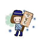 帽子がトレードマークの女の子(冬Ver.)(個別スタンプ:17)