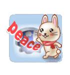 飛び出すウサギ【冬】(個別スタンプ:15)