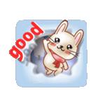 飛び出すウサギ【冬】(個別スタンプ:19)