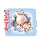 飛び出すウサギ【冬】(個別スタンプ:36)