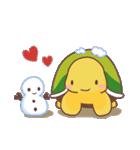 愛されカメさん3(あったか冬とお正月!)(個別スタンプ:01)