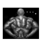 暗闇の筋肉(個別スタンプ:24)
