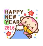 あけおめ ピンクおさる 2016(個別スタンプ:03)