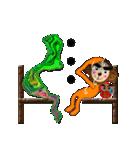 サルと達磨ちゃん(個別スタンプ:39)