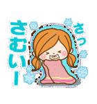 ほのぼのカノジョ 【冬のパステルカラー】(個別スタンプ:06)