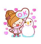 ほのぼのカノジョ 【冬のパステルカラー】(個別スタンプ:09)