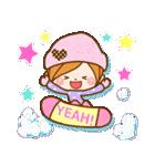 ほのぼのカノジョ 【冬のパステルカラー】(個別スタンプ:12)