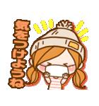 ほのぼのカノジョ 【冬のパステルカラー】(個別スタンプ:17)