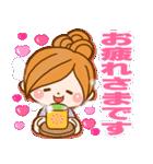ほのぼのカノジョ 【冬のパステルカラー】(個別スタンプ:18)