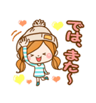 ほのぼのカノジョ 【冬のパステルカラー】(個別スタンプ:34)