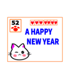 新年の猫スタンプ(個別スタンプ:03)