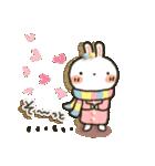 女子力UP!白うさぎさん 冬恋パック(個別スタンプ:14)