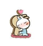 女子力UP!白うさぎさん 冬恋パック(個別スタンプ:30)