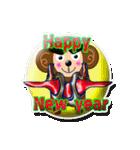 ぷっくりシールの季節の猿(個別スタンプ:10)