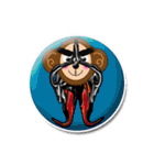 ぷっくりシールの季節の猿(個別スタンプ:17)