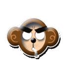 ぷっくりシールの季節の猿(個別スタンプ:18)