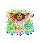 ぷっくりシールの季節の猿(個別スタンプ:21)