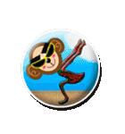 ぷっくりシールの季節の猿(個別スタンプ:24)
