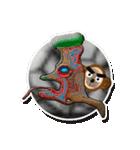 ぷっくりシールの季節の猿(個別スタンプ:28)