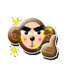 ぷっくりシールの季節の猿(個別スタンプ:33)