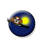ぷっくりシールの季節の猿(個別スタンプ:38)