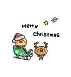 ちっちゃいひよこのクリスマス&お正月(個別スタンプ:02)