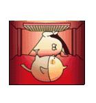 人型動物の年賀状配達とお正月(個別スタンプ:31)