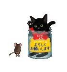 【びんねこ】黒猫バージョン(個別スタンプ:4)