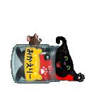 【びんねこ】黒猫バージョン(個別スタンプ:12)