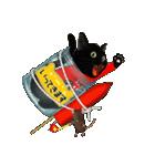 【びんねこ】黒猫バージョン(個別スタンプ:14)
