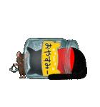 【びんねこ】黒猫バージョン(個別スタンプ:15)