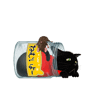 【びんねこ】黒猫バージョン(個別スタンプ:16)