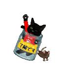 【びんねこ】黒猫バージョン(個別スタンプ:17)