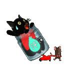 【びんねこ】黒猫バージョン(個別スタンプ:20)