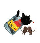 【びんねこ】黒猫バージョン(個別スタンプ:22)