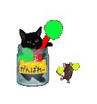 【びんねこ】黒猫バージョン(個別スタンプ:24)