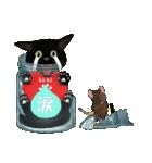 【びんねこ】黒猫バージョン(個別スタンプ:25)