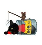 【びんねこ】黒猫バージョン(個別スタンプ:27)